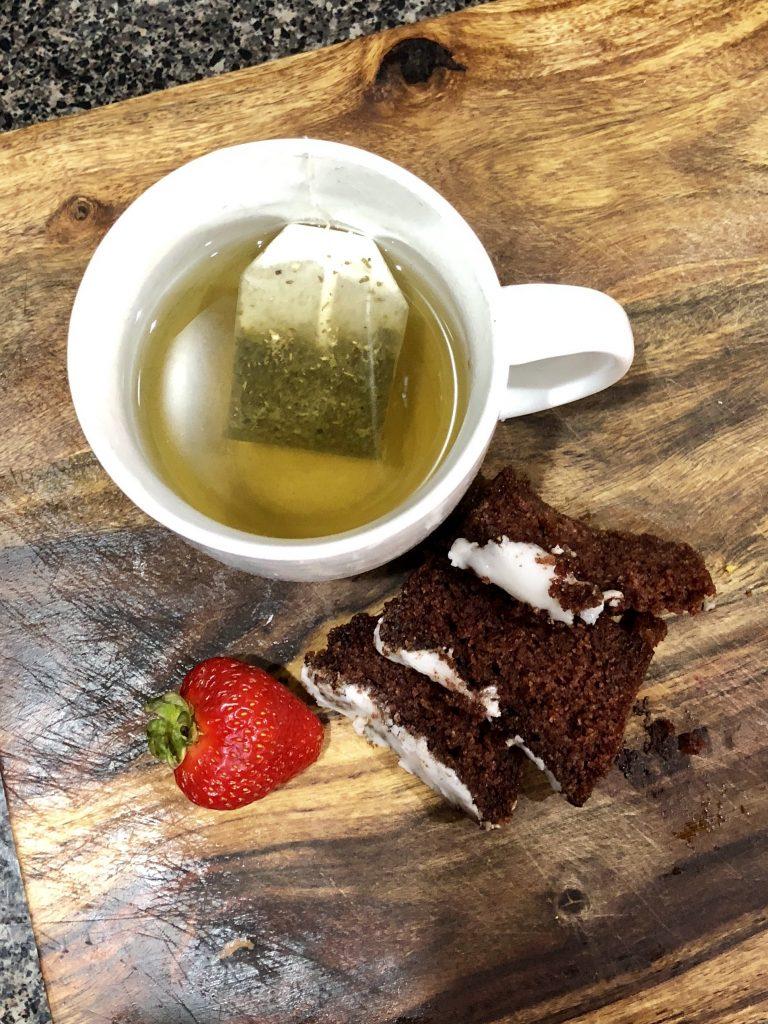 zucchini bread with tea