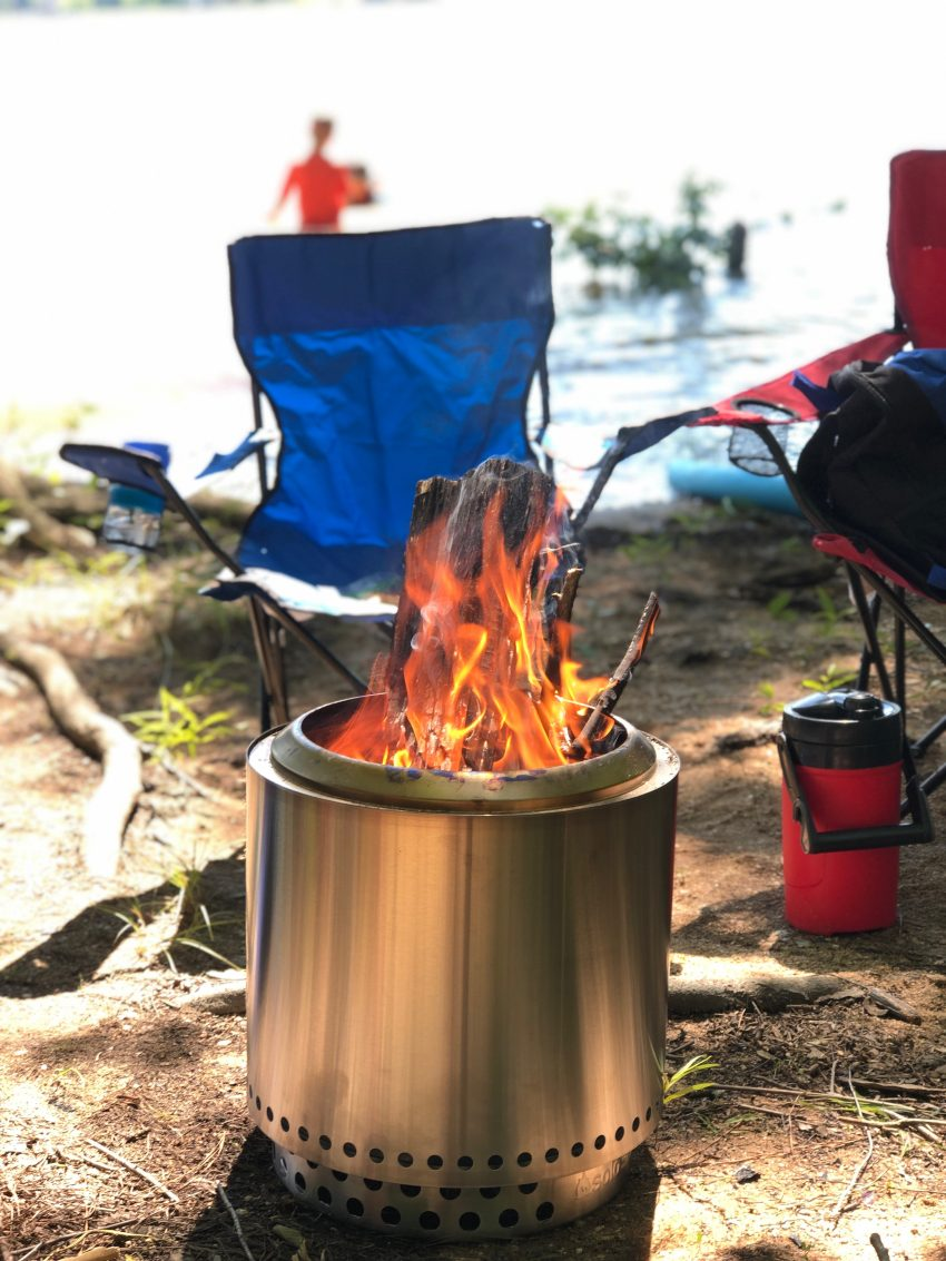 solo, solo stove, solo stove ranger, solo stove ranger fire pit, camping near lake, lake wateree,, camping, camp-out , bon fire