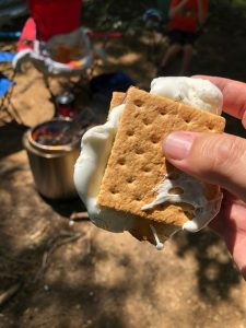 s'more, graham crackers, chocolate, marshmallows, campfire, toasted marshmallows